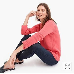 J Crew always 1988 roll neck sweater coral Medium